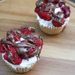 Raspberry & Chocolate Drizzle Cupcakes for Two