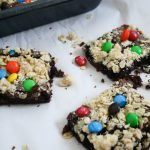M&M's Oat Crumble Cake Mix Cookie Bars