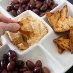 Hummus and Olives Appetizer Tray
